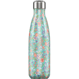 Chilly´s bottle floral peony botella termo de acero inoxidable 500 ml