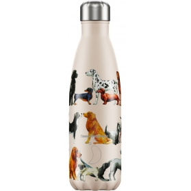 Chilly´s bottle emma bridgewater dogs botella termo de acero inoxidable 500 ml