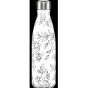 Chilly´s bottle line art flowers botella termo de acero inoxidable 500 ml