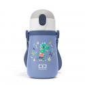 Monbento mb stram botella térmica 360ml acero inoxidable con pajita azul