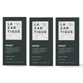 Lazartigue Boost TRIPLO 3x30 comprimidos energizantes capilares