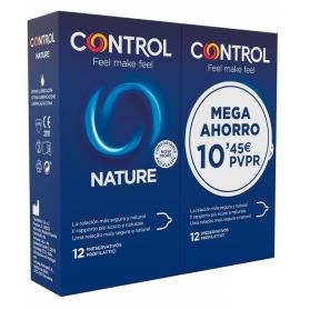 Control Nature preservativos DUPLO2x12 uds MEGA AHORRO