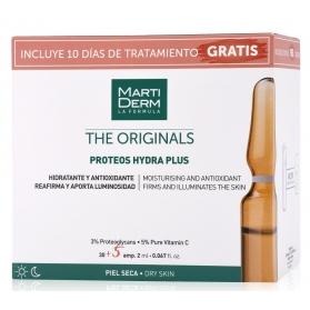 Martiderm pack proteos hydra plus the originals 30+5 ampollas gratis