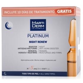 Martiderm pack platinum night renew 30+5 ampollas gratis