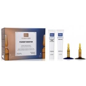 Martiderm pigment booster 15+15ampollas +exfoliante + hidro mask