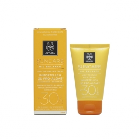 Apivita Suncare crema protectora solar facial reguladora de exceso de grasa SPF30 50ml