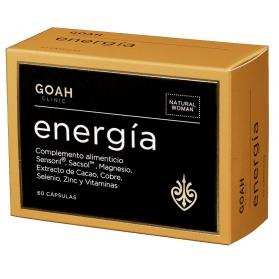 Goah clinic energía 60 cápsulas con cacao, sensoril y sacsol