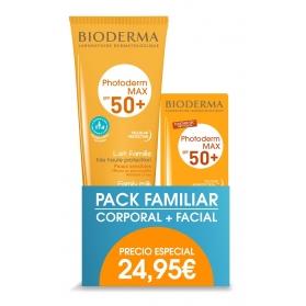 Photoderm pack leche familliar 250 ml + aquafluid 40 ml