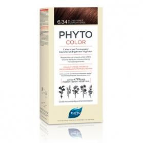 PhytoColor 6.34 Rubio Oscuro Cobrizo Tinte con extractos vegetales