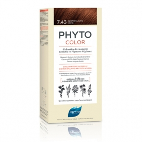 Phytocolor 7.43 copper golden tinte para cabello con extractos vegetales