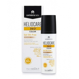 Heliocare 360º spf 50+ color gel oil-free protector solar bronze 50 ml