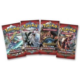 Pokémon Sol y Luna Invasión Carmesí 1 sobre Original en Castellano