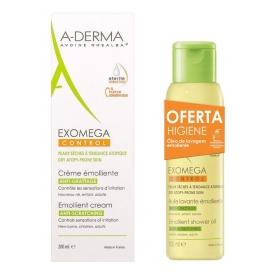 A-Derma Exomega Control crema emoliente 200 ml + Aceite limpiador 100 ml
