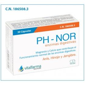 Vitalfarma PH-NOR enzimas digestivas 30 cápsulas