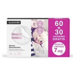 Suavinex discos de lactancia ansorbentes 60+30 uds