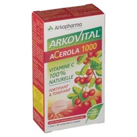Arkopharma Acerola 1000 30 comprimidos Vitamina C Natural