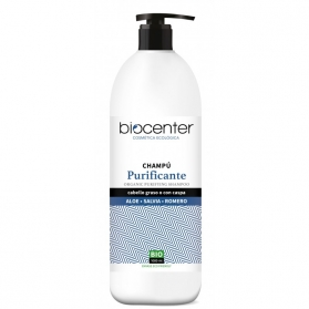 Biocenter champú bio cabello graso y con caspa con aloe, salvia y romero 1000 ml