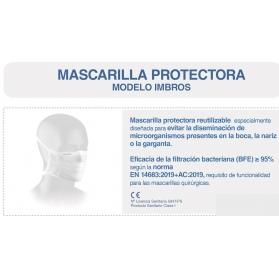 Mascarilla reutilizable imbros kids 8-12 años producto sanitario clase i 135 lavados