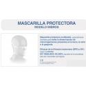 Mascarilla reutilizable imbros adulto producto sanitario clase i 135 lavados
