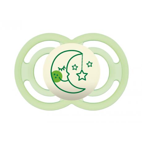 Mam perfect night chupete silicona verde +6 meses