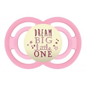 Mam perfect night chupete silicona rosa +6 meses