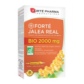 Forté pharma jalea real bio 2000 mg 20 ampollas x 15 ml