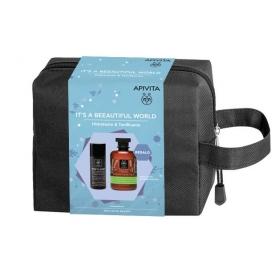 Apivita NECESER Hombre crema antiarrugas 50 ml + Mountain Tea gel 300 ml