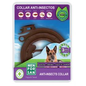 Menforsan collar anti-insectos con margosa, geranil y lavandín