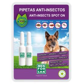 Menforsan pipetas anti-insectos con margosa, geraniol y lavandín