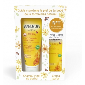 Weleda COFRE Baby Champú-gel 200 ml + Crema pañal 30 ml