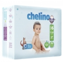 Pañales chelino fashion&love dóble núcleo talla 6 17-28 kg 27 uds