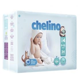 Pañales Chelino Fashion&Love dóble núcleo Talla 4 9-15 kg 34 uds