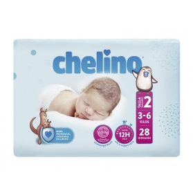 Pañales Chelino Fashion&Love dóble núcleo Talla 2 3-6 kg 28 uds