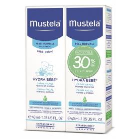 Mustela Hydra Bebé crema facial DUPLO 2x40 ml