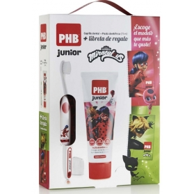 PHB JUNIOR PACK Lady Bug cepillo+ pasta de dientes 75 ml + Libreta
