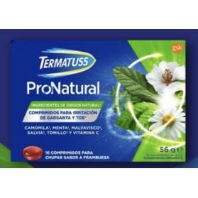 Termatuss Pronatural 16 comprimidos sabor Frambuesa con Extractos de Plantas y Vitamina C