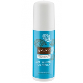 Naáy desodorante de alumbre, aloe y caléndula roll on 75 ml