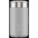 Chilly´s termo de acero inoxidable para sólidos gris light 500 ml