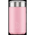 Chilly´s termo de acero inoxidable para sólidos rosa pastel 500 ml