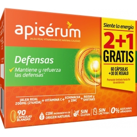 Apisérum defensas triplo 90 cápsulas