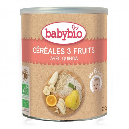 Babybio Cereales 3 Frutas...