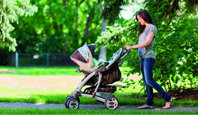 Tus primeros paseos con el bebé